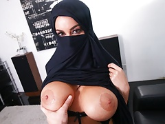 Busty Muslim MILF Cheats On Husband With White Guy, POV